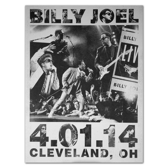 Billy Joel Event City Poster, Cleveland, 4-1-14
