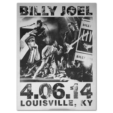 Billy Joel Event City Poster, Louisville, 4-6-14