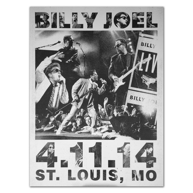 Billy Joel Event City Poster, St. Louis, 4-11-14