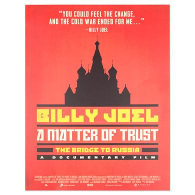 "Billy Joel Russia ""A Matter Of Trust"" Lithograph"