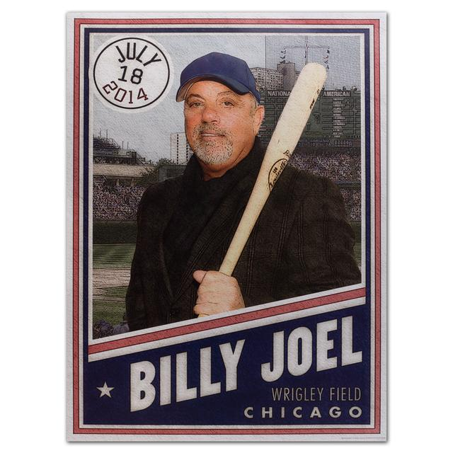 Billy Joel Wrigley Field Baseball Card Poster