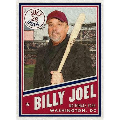 Billy Joel DC Baseball Card Litho