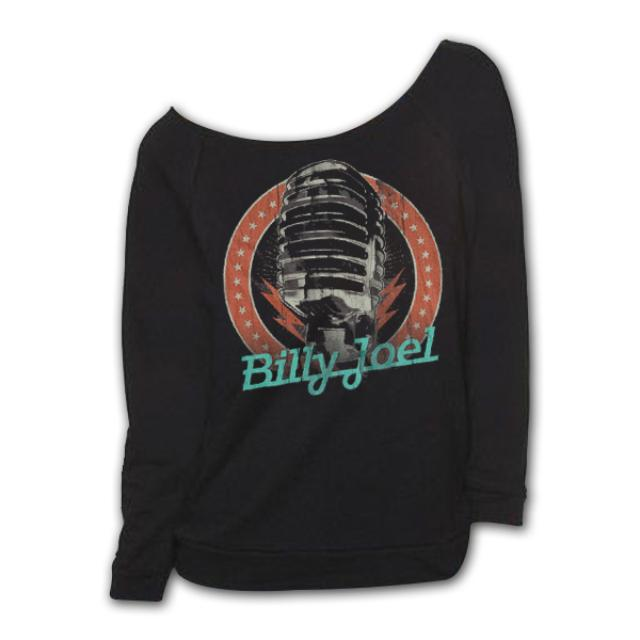 Billy Joel Microphone Scoopneck Sweatshirt