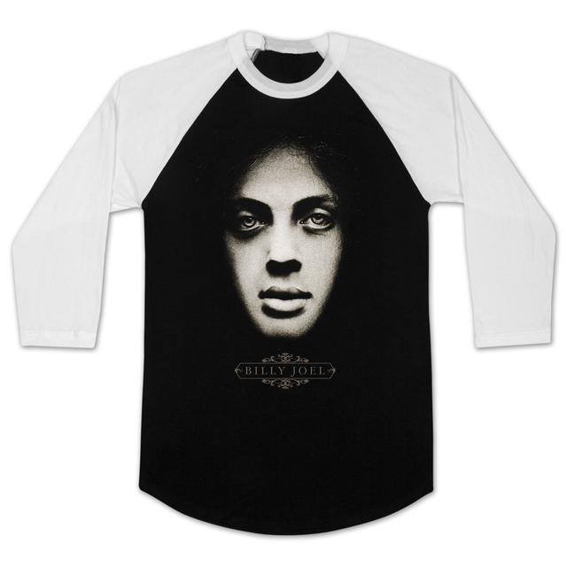 Billy Joel  Portrait Baseball Raglan