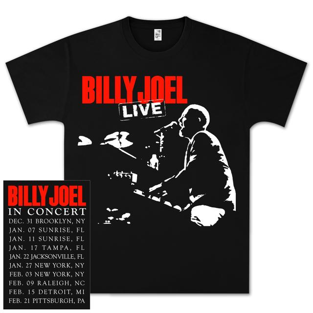 Billy Joel Live Photo Dateback T-Shirt