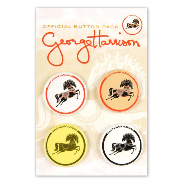George Harrison Horses Button Pack