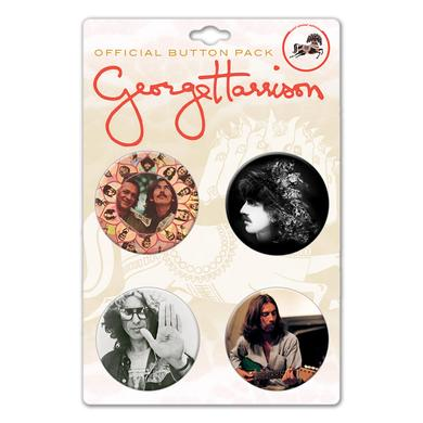 George Harrison Candid Portraits Pin Set