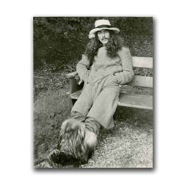 George Harrison Bench BW Photo Litho