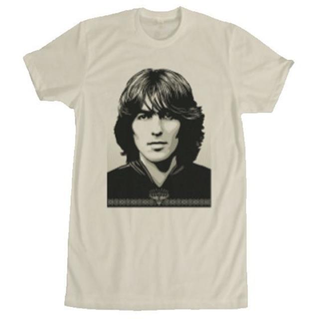 George Harrison Shepard Fairey Natural T-Shirt