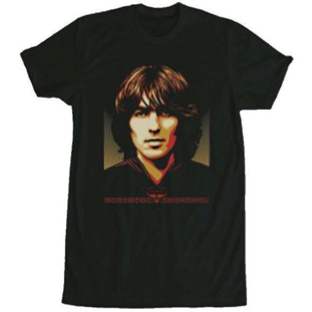 George Harrison Shepard Fairey Black T-Shirt