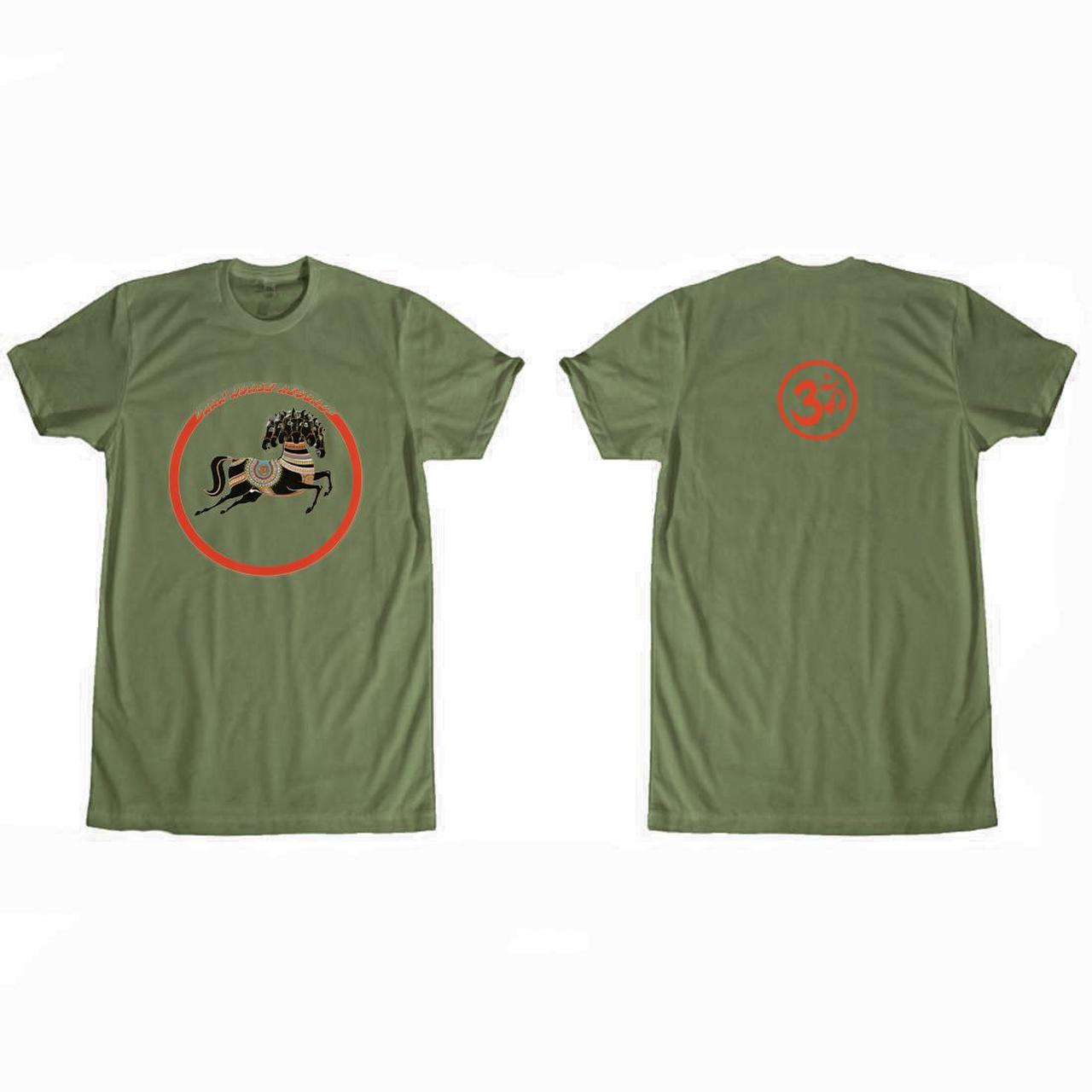 George Harrison Dark Horse Records Logo (Olive) T-Shirt 5173f822089