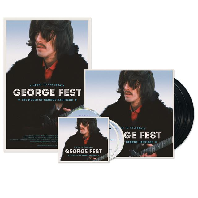 George Harrison George Fest Bundle (2CD/Blu-ray + 3LP + Ltd Ed Poster)