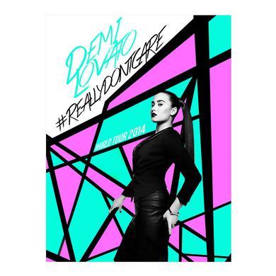 Demi Lovato #REALLYDONTCARE Poster