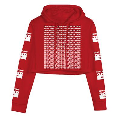 Demi Lovato Red Crop Hoodie