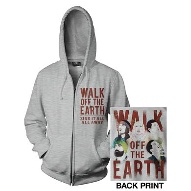 Walk Off The Earth Gray Zip Up Hoodie