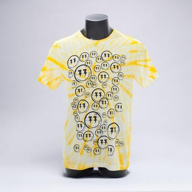 Bingo Players Smiley Pattern Yellow Tie Dye Shirt