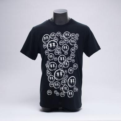 Bingo Players Smiley Pattern Black Shirt