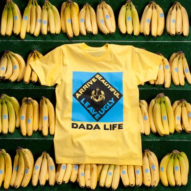 Dada Life ARRIVE BEAUTIFUL LEAVE UGLY TEE // YELLOW