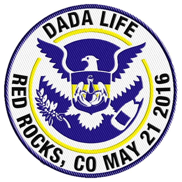 DADA LIFE PATCH - RED ROCKS, CO MAY 21 2016