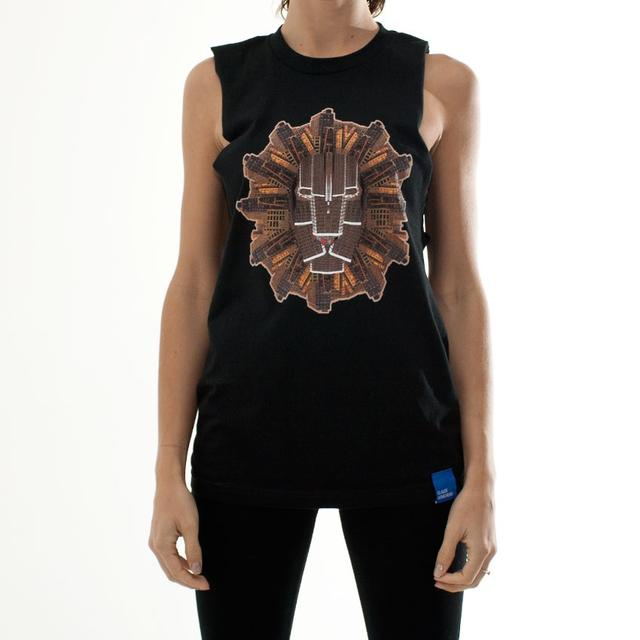 Dirtybird Records Women's Sleeveless Urban Animal Lion T-Shirt