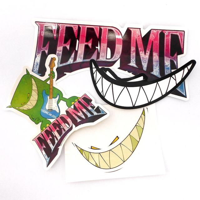 Feed Me // Psychedelic Foil Grin Sleeveless