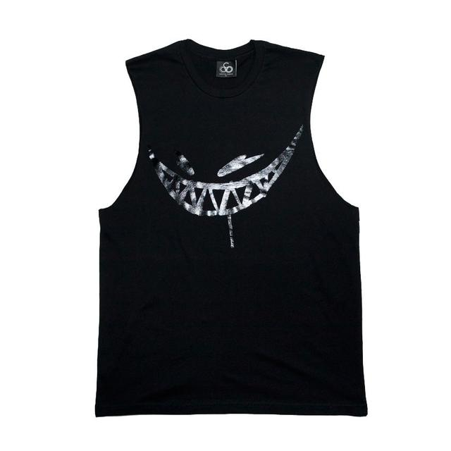 Feed Me // Painted Grin Black Foil Sleeveless