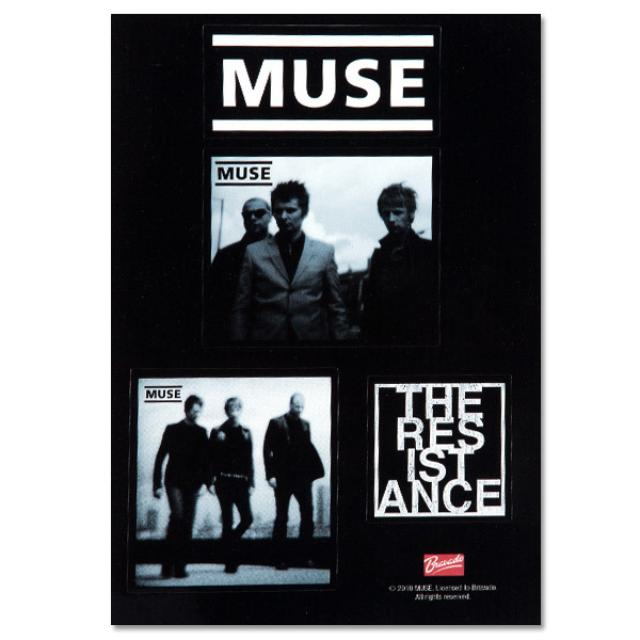 Muse Black and White Sticker Set