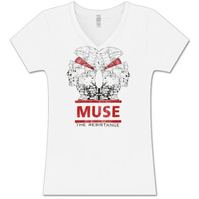 Muse Memory Failure White V-Neck T-Shirt