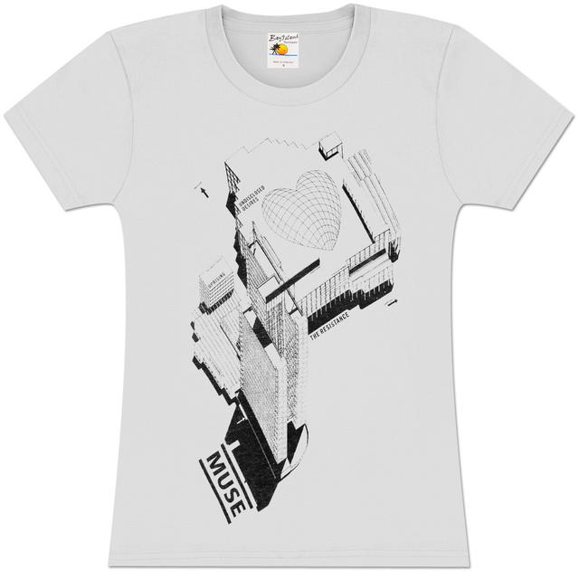 Muse Love Schematic Girls Fitted T-Shirt