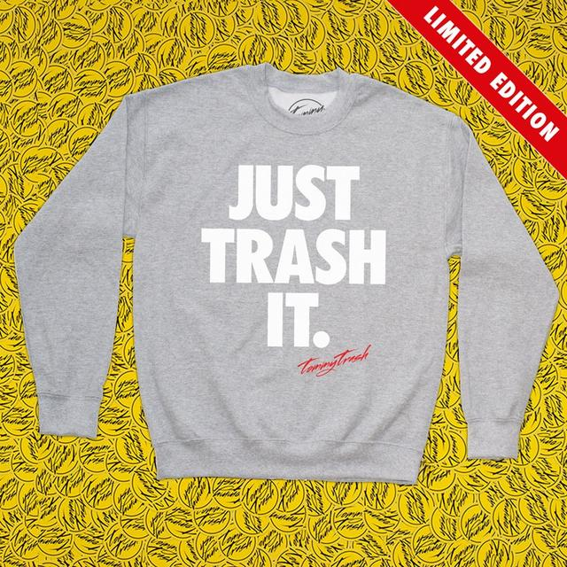Tommy Trash Just Trash It Crewneck | Heather