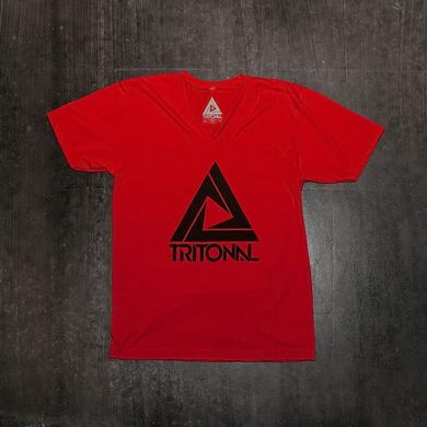TRITONAL LOGO V-NECK | RED
