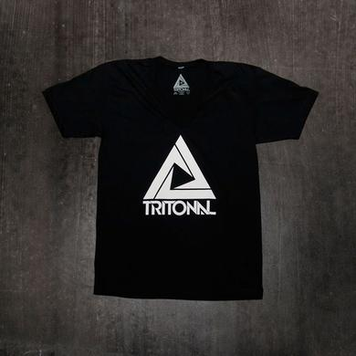 TRITONAL LOGO V-NECK | BLACK