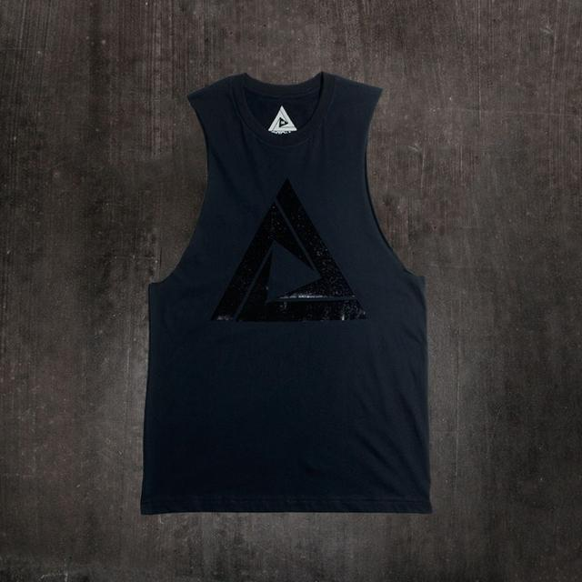 Tritonal BLACK FOIL LOGO SLEEVELESS