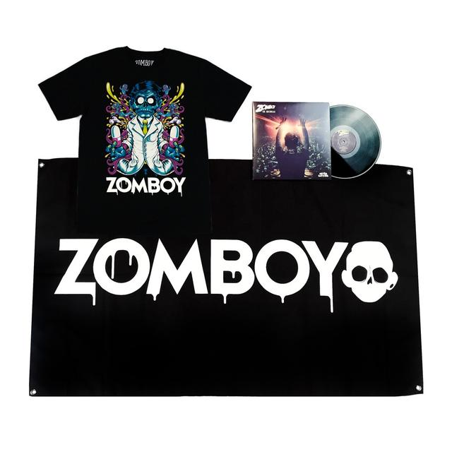 Zomboy DELIRIUM SHIRT + VINYL + FLAG BUNDLE