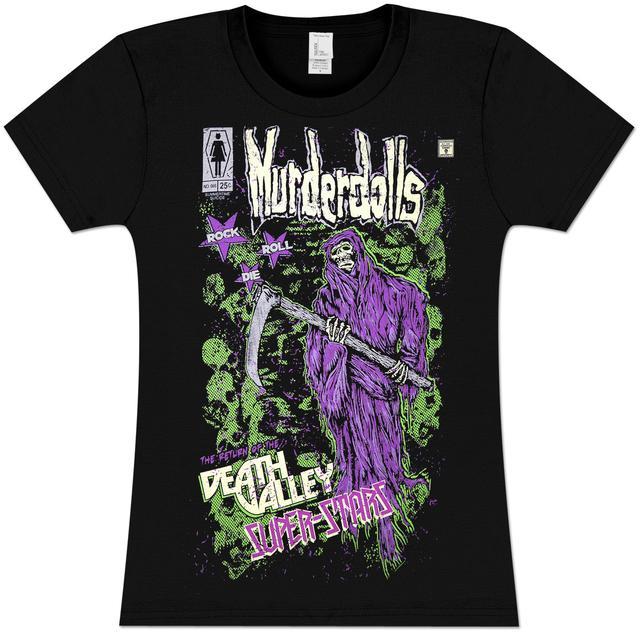 Murderdolls Death Valley Superstar Girls' Fitted T-Shirt