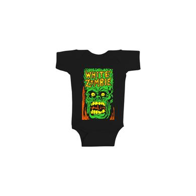 White Zombie Monster Yell Onesie