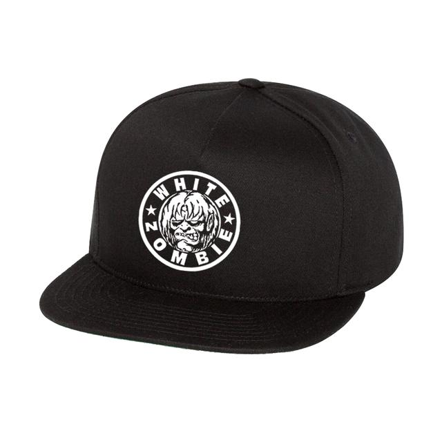 White Zombie Zombie Logo Hat