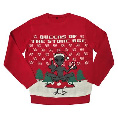 Queens Of The Stone Age Alien Knit Holiday Sweater