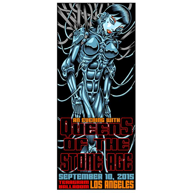 Queens Of The Stone Age LA Surprise Show Poster 9/10/15