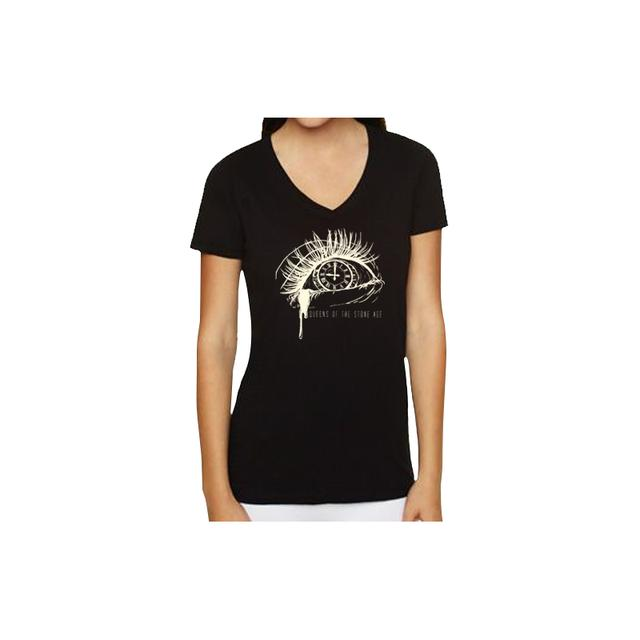 Queens Of The Stone Age Clock Eye Womens V-Neck