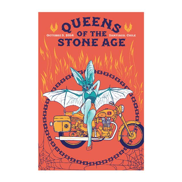 Queens Of The Stone Age Santiago Event Poster 10/5/14