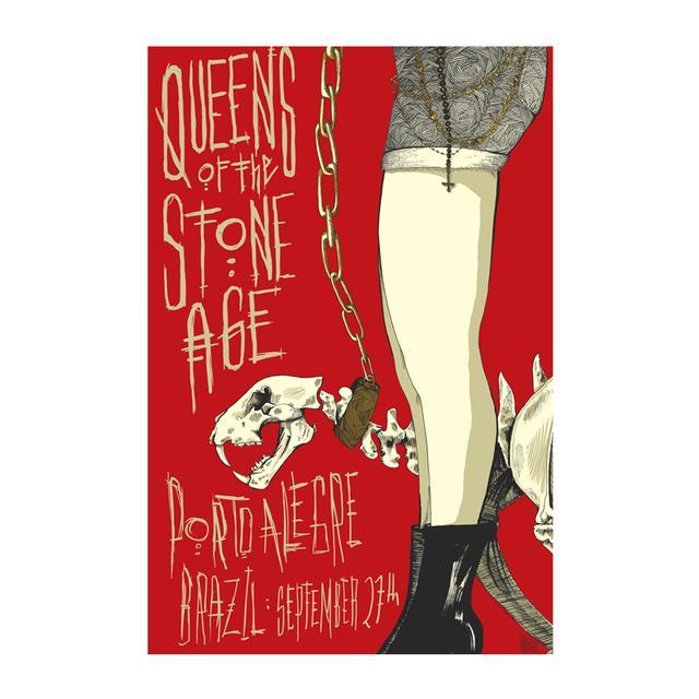 Queens Of The Stone Age Porto Alegre Event Poster 9/27/14