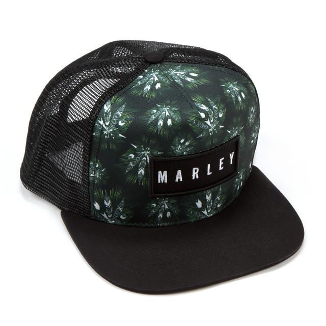 Bob Marley Allover Leaf Trucker Hat
