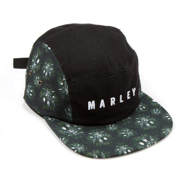 Bob Marley Allover Leaf Print 5 Panel Hat