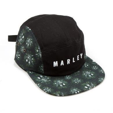 Bob Marley Allover Leaf Print 5 Panel Hat