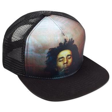 Bob Marley Smoking Trucker Hat