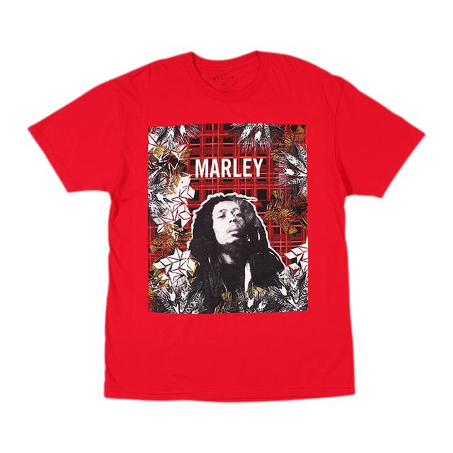 Bob Marley Collage Plaid T-Shirt