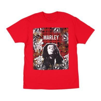 Bob Marley Collage Plaid T-Shirt