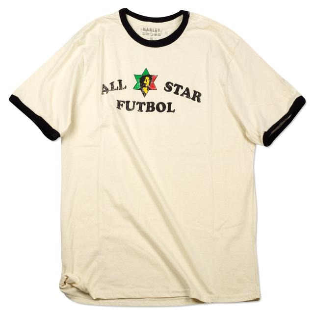 Bob Marley All Star Futball Ringer T-Shirt