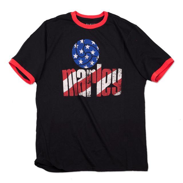 Bob Marley USA Futball Ringer T-Shirt